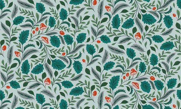 Earth Magic Erin Macmanness Paper Raven Mushroom Forest Emerald