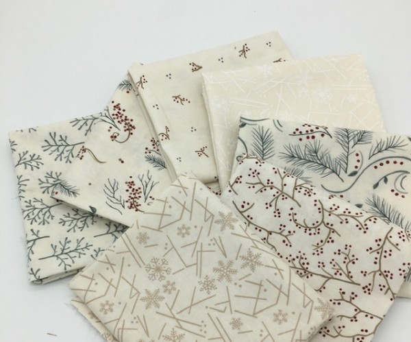 Fat Quarter Set Warm Winter WIshes Holly Taylor snowflake