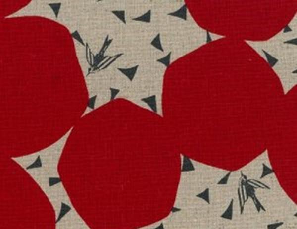 Echino Kokka Bubbles red