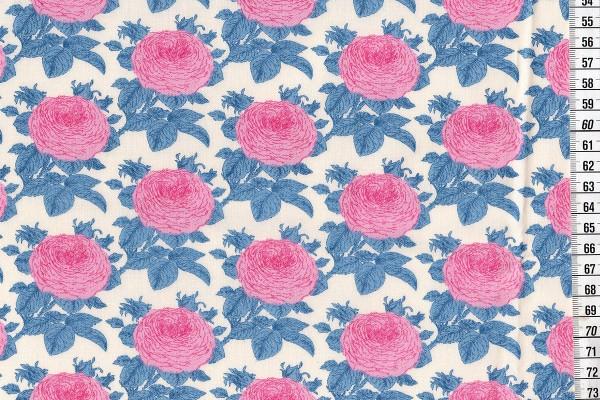 Baumwolldruck Tilda Sunkiss Grandma's Rose blue