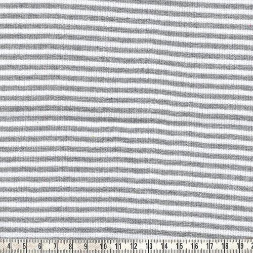Ringelbündchen grau/weiß