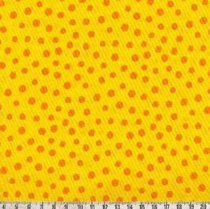 Westfalenstoff Junge Linie Punkte gelb/orange groß