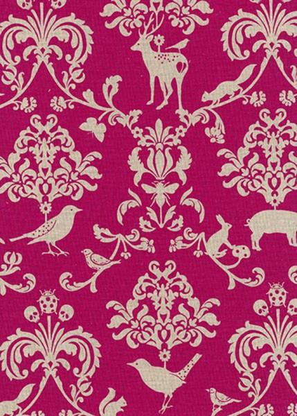 Wachstuch Echino Damask pink