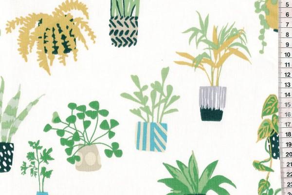 Wachstuch PVC Pot Plants