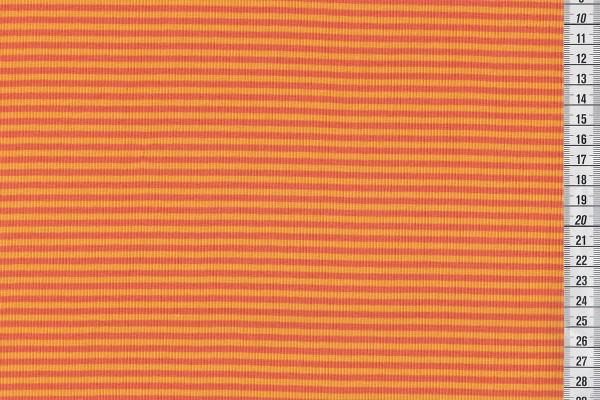 Ringelbündchen orange/gelb