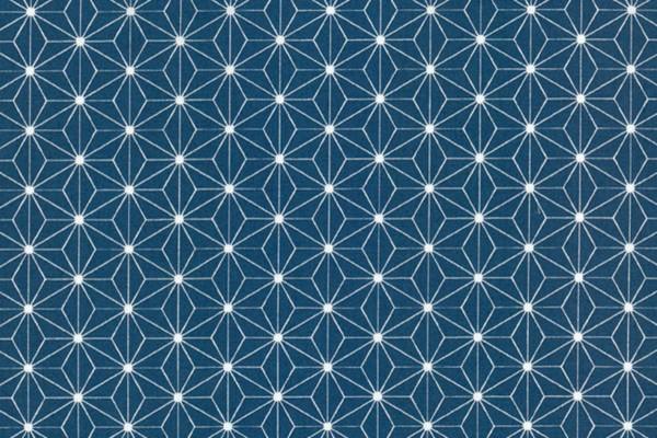Westfalenstoffe Kopenhagen Sternenblüte jeansblau/weiß