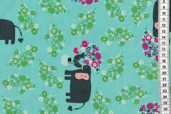 Kawaii Nakama I heart Elephants turquoise
