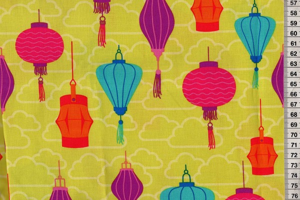 michael miller chinese Lanterns by patty young for michael miller