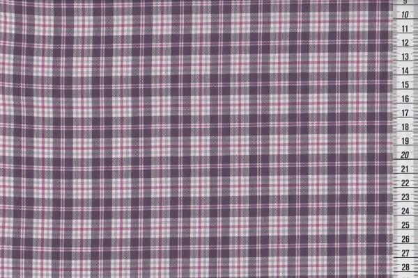 Westfalenstoff Torino Webstoff kariert violett mauve