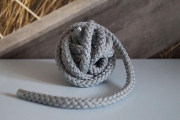 Baumwollkordel 8 mm grau