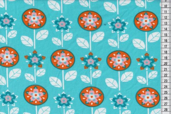 lillestoff Bio Stretchjersey Flower Inara