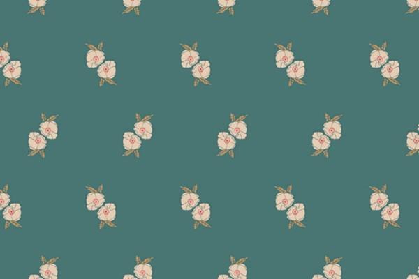 Stretchjersey Art Gallery Flower Stamp Adore