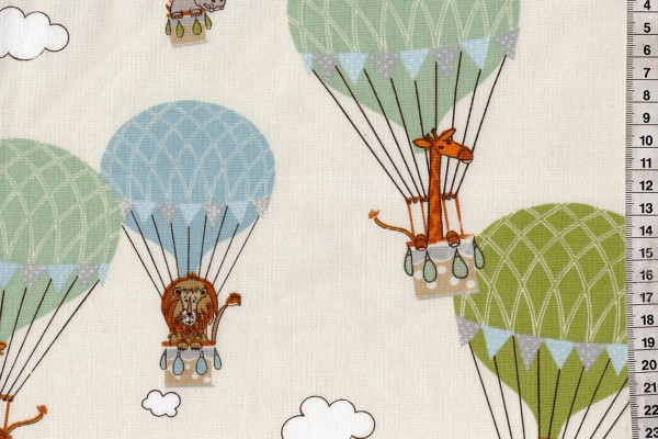 Dekostoff Heißluftballon