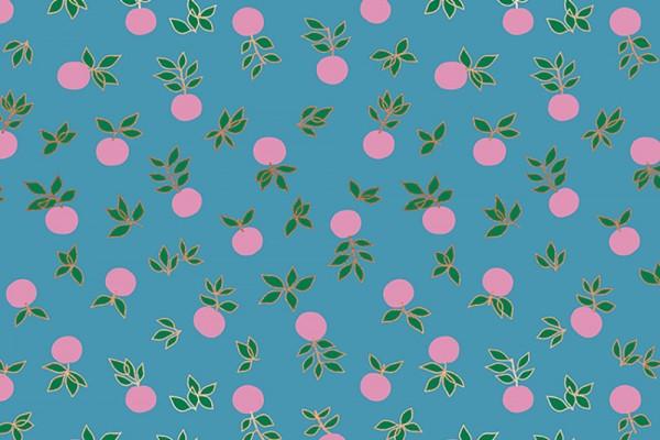 Ruby Star Society Stay Gold Melody Miller Blossom Blend Flower Botanical vintage blue