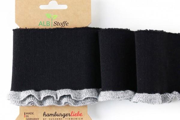 Bio Bündchen Cuff Me Frill schwarz-silber