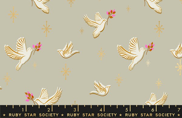 Ruby Star Society Candlelight Metallic Dove Wool