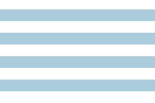 Baumwolldruck Streifen hellblau/weiß
