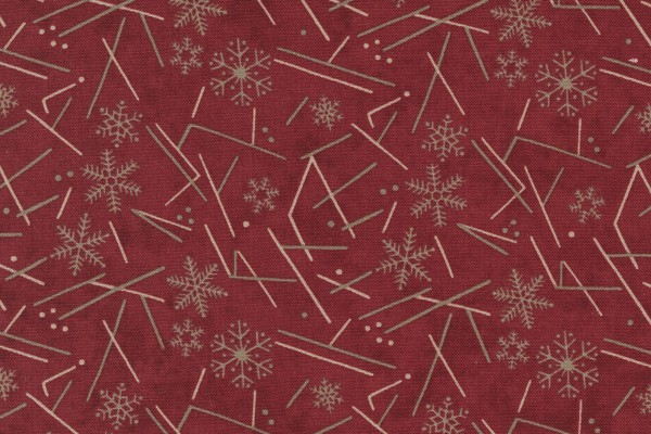 Warm Winter Wishes by Holly Taylor Snowflake Flurry Deep Red
