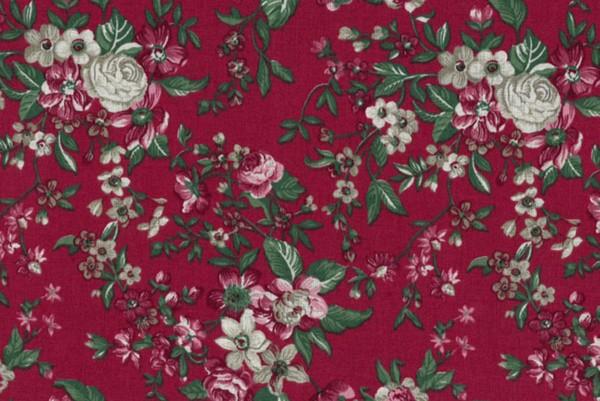 Westfalenstoffe Trondheim Druckstoff Blumen rot