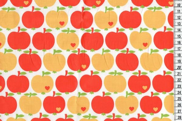 acrylbeschichtete Baumwolle Apfel klassik by Graziela gelb-orange
