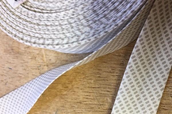 Schrägband Westfalenstoffe Kyoto Pixel beige