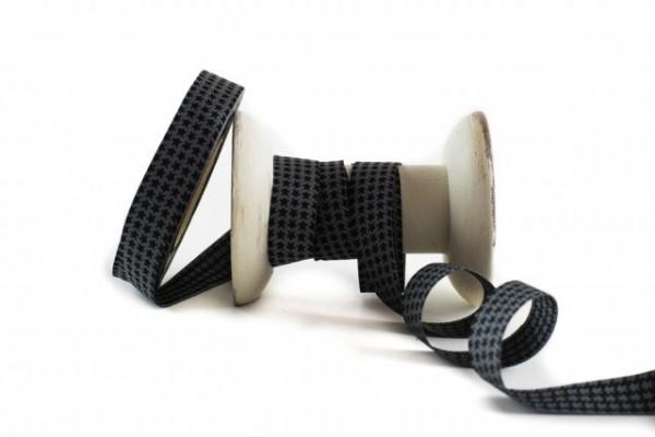 Staaars grau-schwarz Webband