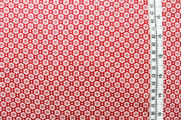 QUILTERS BASIC Blümchen rot