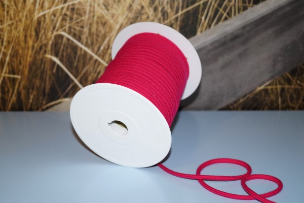 Baumwollkordel 6 mm pink