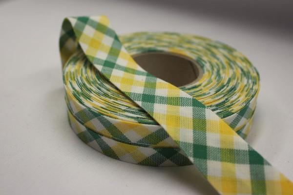 Schrägband Westfalenstoffe gelb/dunkelgrün