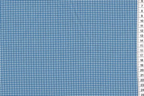 Baumwolldruck Punktereihe marine