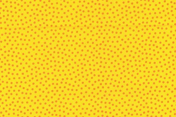 Westfalenstoff Junge Linie Punkte klein gelb/orange