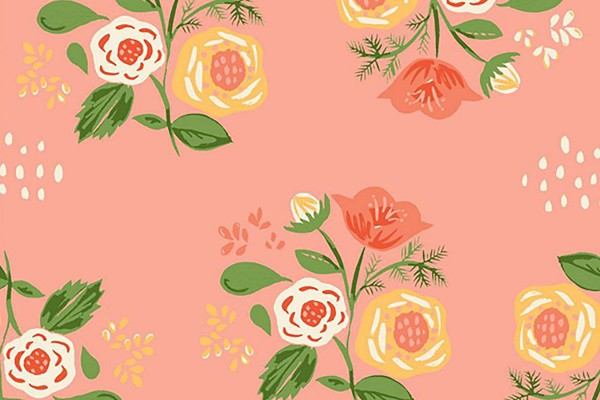 Monaluna Vintage74 Bouquet on Pink