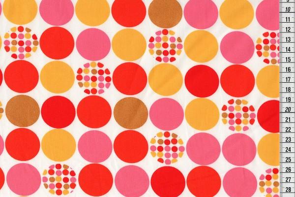 Baumwolldruck Dots big