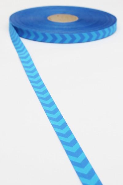 Chevron-Webband, blau-blau