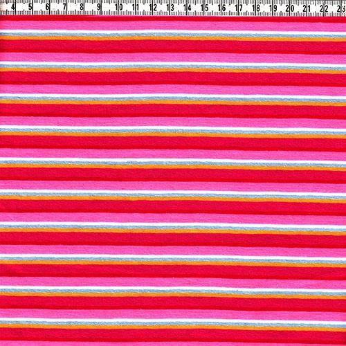 Stretch-Jersey Ringel pink/rosa/hellblau