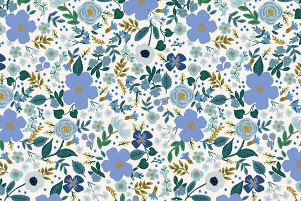 Rifle Paper Co Garden Party Wild Rose Blue Metallic