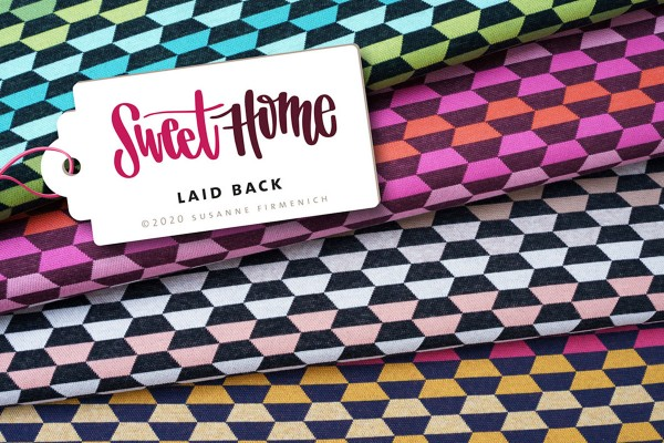 Sweet Home Jacquard Hamburger Liebe LaidBack Col 3 rosa