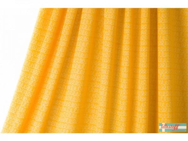 Bio Strickjacquard Luiaard waves gelb