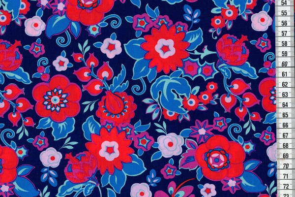 Amy Butler Soulmate Grand Bouquet navy