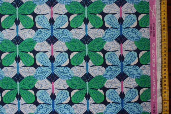 Canvas BUTTERFLY NAVY by Melody Miller & Sarah Watts