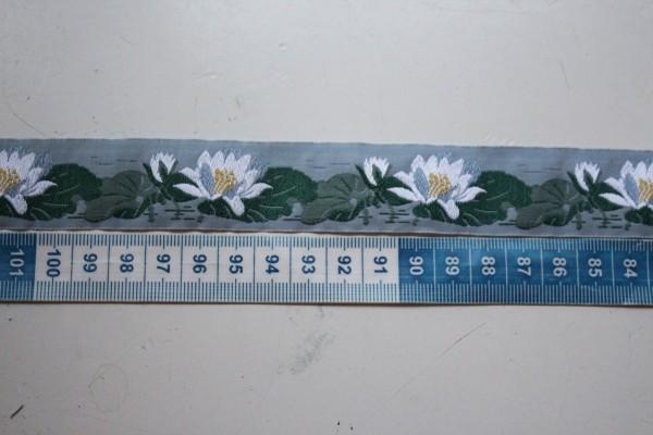 Webband Seerose blau