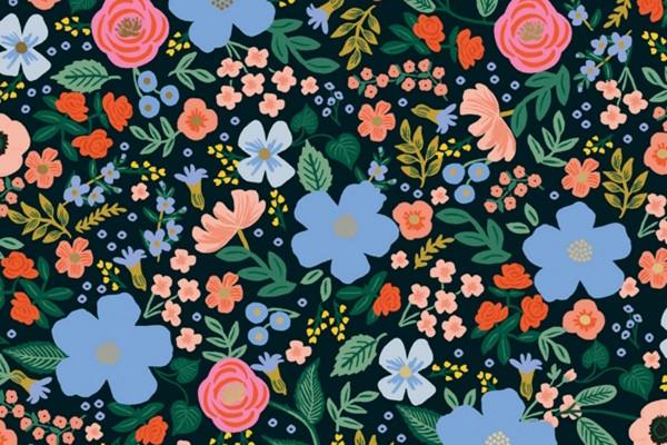 Primavera Rifle Paper Wild Rose Black