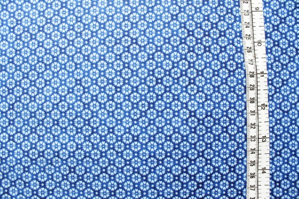 QUILTERS BASIC Blümchen blau