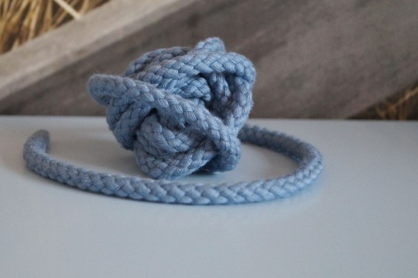 Baumwollkordel 8 mm taubenblau