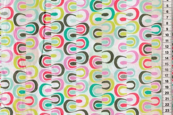 Baumwolldruck Chalk&Paint Evenly Smudged Fun
