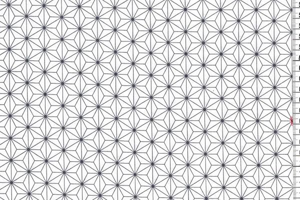 Westfalenstoffe Kopenhagen Sternenblüte ecru/grau