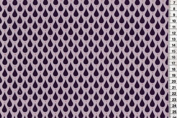 Dekostoff Teardrops Dusty Violet