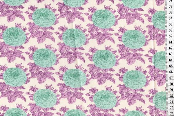Baumwolldruck Tilda Sunkiss Grandma's Rose lilac
