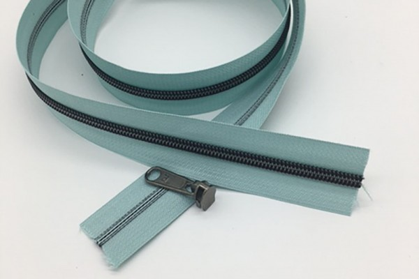 Reißverschluss metallisiert mint/titan breite Raupe