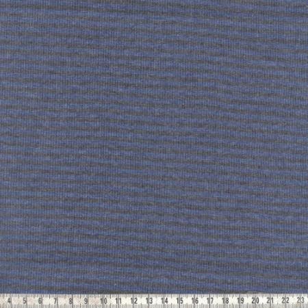 Ringelbündchen grau/blau